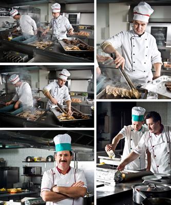 سرآشپزها در آشپزخانه