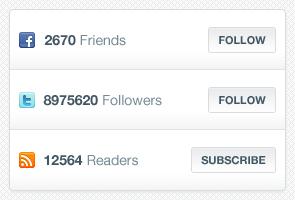 دوستان فیسبوک ، دنبالکنندگان توییتر ، خوانندگان آراساس