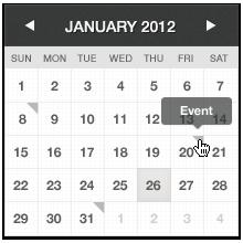 تقویم میلادی + ثبت رخدادها