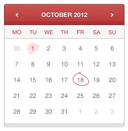 تقویم دستنویس شده / Hand Stitched Calendar