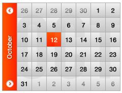 تقویم نارنجی رنگ / Orange Calendar