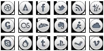 آیکونهای شبکههای اجتماعی / Simple Social Icons