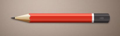 طرح لایه باز مداد / Pencil Template