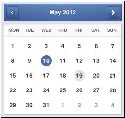 تقویم میلادی با رنگ آبی / Blue Minimal Calendar