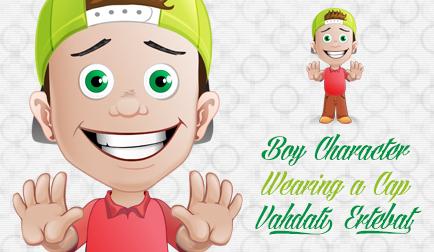 پسر با کلاه نقابدار / Boy Character With A Hat