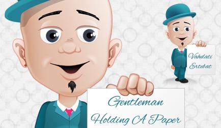 مرد مرتّب و با شخصیت کاغذ به دست / Gentleman Holding A Paper
