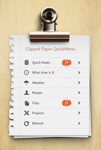 منوی کاغذهای پنسشده / Clipped Paper QuickMenu