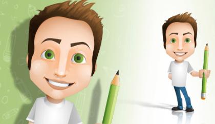 مرد مداد به دست / Man Holding A Pencil