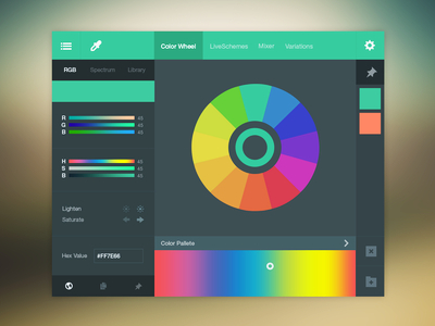 رابط کاربری انتخابکننده رنگ / Color Picker UI