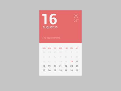 تقویم صاف و تخت / Flat Calendar