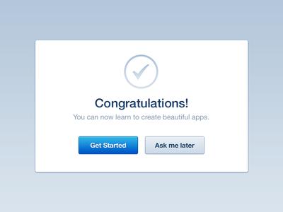 رابط کاربری پنجره تبریک