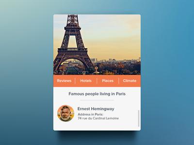 ابزارک پاریس / Paris Widget