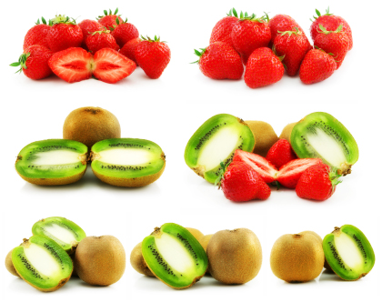 تکّههای کیوی و توتفرنگی / Sliced Kiwi And Strawberry