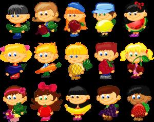 کودکان با میوهجات و سبزیجات / Kids With Fruits & Vegetables