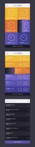 رابط کاربری برنامه کاربردی منطقه زمانی / Time Zone App UI
