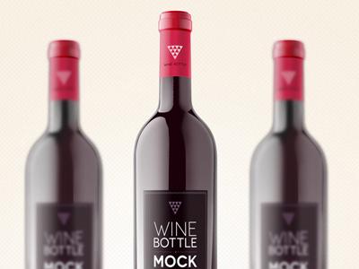 پیکرنمای بطری شراب / Wine Bottle Mockup