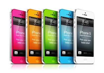 پیکرنمای iPhone 5 ( دید زاویهای )