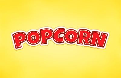 افکت متن ذرّت بو داده / Popcorn Text Effect