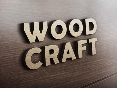 لوگوی چوبی سه بعدی / 3D Wooden Logo