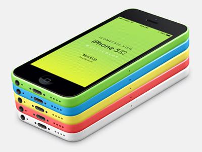 گوشی هوشمند آیفون 5C ( دید ایزومتریک )