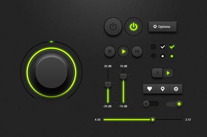 کیت رابط کاربری موسیقی / Music Player UI Kit