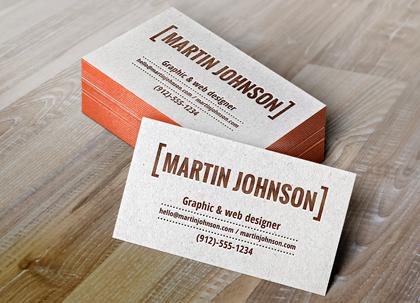 کارت ویزیتهای چاپی / Letterpress Business Cards