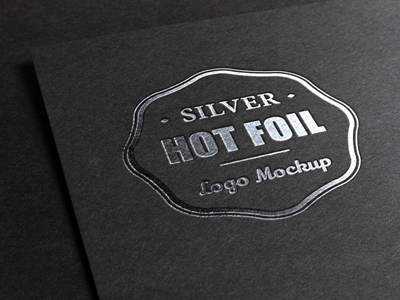 لوگوی فشرده شده روی فویل