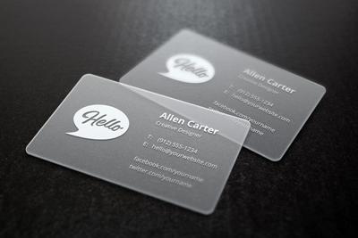 کارت ویزیتهای شفاف / Transparent Business Cards