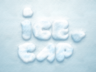 افکت متن برفی / Snow Text Effect