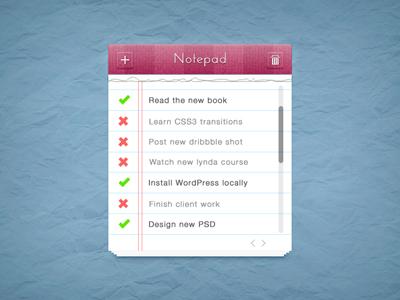 دفترچه یادداشت واقعی / Realistic Notepad