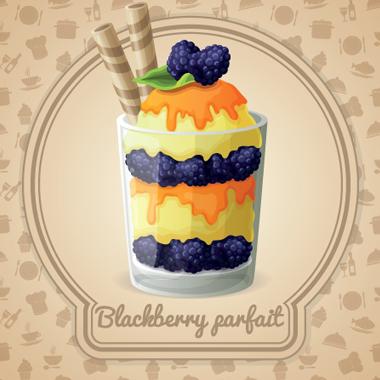 دسر یخزده توت سیاه / Blackberry Parfait