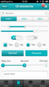 عناصر رابط کاربری تلفن همراه / Mobile UI Elements