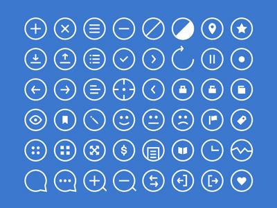 آیکونهای دایرهای / Rounded Icons
