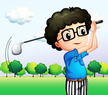 پسر و بازی گلف / Boy & Golf