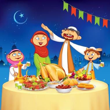 خانواده مسلمان و دعوت افطار / Muslim Family And Iftar Invitation