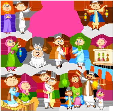 مردم مسلمان در حال جشن گرفتن عید / Muslim People Celebrating Eid