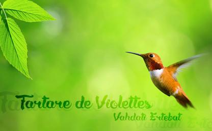 Tartare de Violettes By Medina Grégory