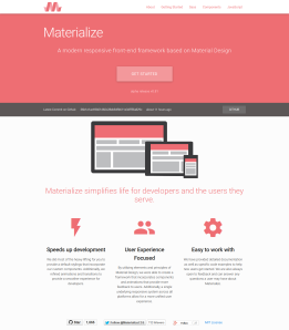 Materialize - Material Design Framework