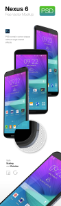 پیکرنمای نکسوس ۶ / Nexus 6 Mockup