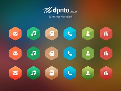 آیکونهای رابط کاربری Dpnto
