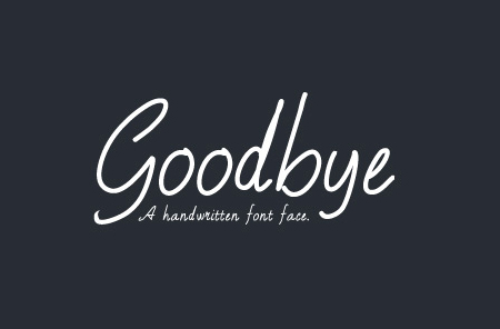 Goodbye Font By WeGraphics