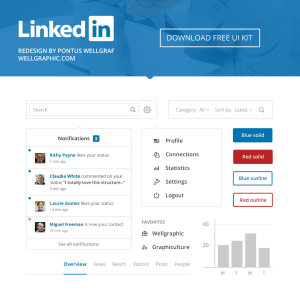 LinkedIn Redesign - UI Kit
