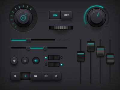 کیت رابط کاربری تاریک / Dark UI Kit