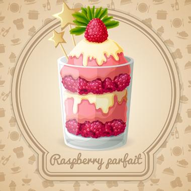 دسر یخزده توت قرمز / Raspberry Parfait