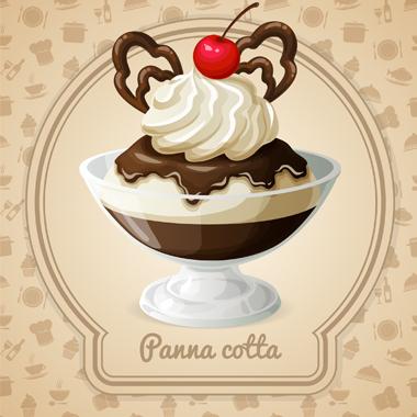 پاناکوتای شکلاتی / Chocolate Panna Cotta