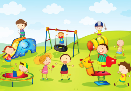 کودکان در حال بازی کردن در پارک / Kids Playing At The Park