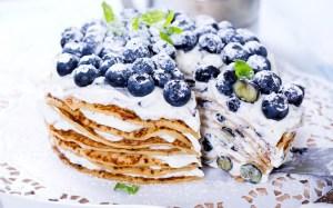 پنکیکهای بلوبری / Blueberry Pancakes