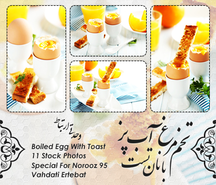 تخممرغ آبپز با نان تست / Boiled Egg With Toast