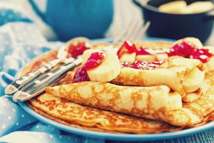 پنکیک با موز و مربّا / Pancake With Banana And Jam