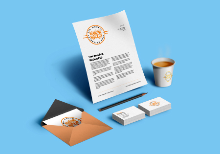Corporate Branding Mockup Elements By GraphicsFuel